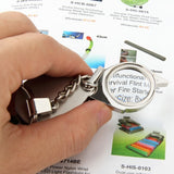 Portable Folding Loupe Metal Jewellery Antique Magnifier Magnifying Eye Glass Lens Keychain