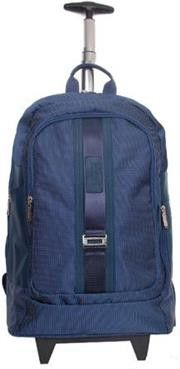 Macaroni Caretto 17 inch  Dotted Nylon Trolley Backpack-Blue