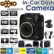 Geeko In-Car Dash Cam DVR Standard Entry Level with 2.4 inch TFT Colour LCD Screen - 1.3 Mega pixels Hardware Resolution