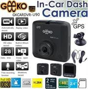 Geeko In-Car Dash Cam DVR Full High Definition DVR with Built in GPS signal receiver and 2.4 inch TFT Colour LCD Screen -2.0 Mega pixels Hardware Resolution
