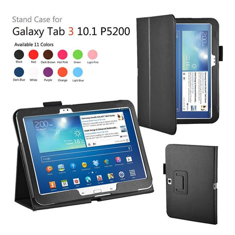 Leather Stand Cover Case For Samsung Galaxy Tab 3 10.1 P5200 / P5210