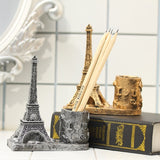 Creative Retro Resin Eiffel Tower Pen Container School Stationery Life Office Supplies Random Color Delivery