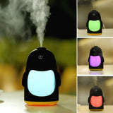QW-Q3 150ML Mini Creative Penguin Shape USB Color Night Light Aromatherapy Air Humidifier for Home (Yellow)