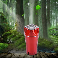 K386 Aromatherapy Ionizer Oxygen Air Purifier with Car Charger for Home / Office / Car(Red)