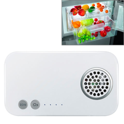 K512 Mini Portable Ozone & Ion Sterilizer for Closet / Room / Car / Vegetable with Power Bank(White)