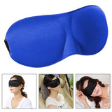 3D Portable Shading Sleep Rest Aid Cover Eye Patch Sleeping Mask Case Female Cute Eye Mask(Blue)