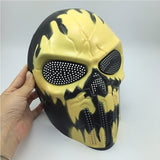 Halloween Cosplay Party Full Face Airsoft Devil Fire Skull Mask	-HC5973D