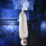 Horror Hanging Skull Flying Specter Mummy Ghost with Scary Light Up Eyes for Halloween Masquerade Props Decorations