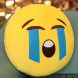 Crying Face Creative Emoji Throw Pillow Back Pillow Size: 33cm x 33cm