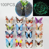 40 PCS Fashion Luminous Butterfly with Brooch Simulation Fridge Magnets Wall Sticker Garden Decoration Random Color Delivery	-HC8594