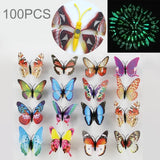 40 PCS Fashion Luminous Butterfly with Magnet Simulation Fridge Magnets Wall Sticker Garden Decoration Random Color Delivery	-HC8595