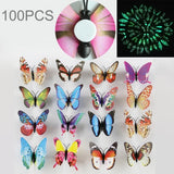 40 PCS Fashion Luminous Butterfly with Double-sided Adhesive Simulation Fridge Magnets Wall Sticker Garden Decoration Random Color Delivery	-HC8596