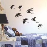 3 Set Creative 3D Dragon Wall Stickers Halloween Living Room Bedroom Decoration Supplies	-HC8730