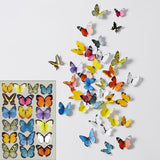 5 Sets Creative 3D Butterfly Wall Stickers Living Room Bedroom Decoration Supplies Random Style Delivery	-HC8745