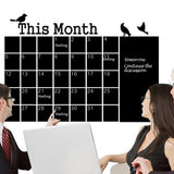 Calendar Chalkboard Wall Stickers PVC Removable Blackboard  Office Decoration Suppliess	-HC8831