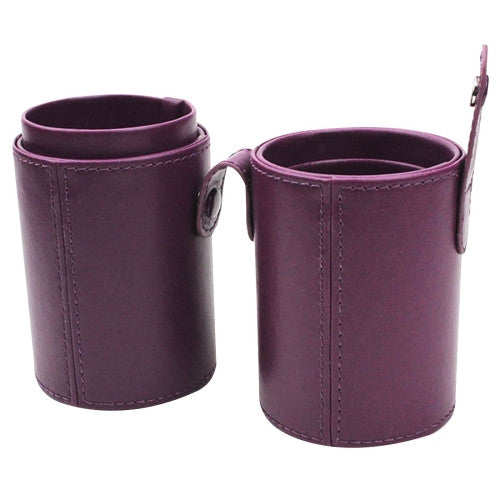 Online Buy PU Leather Makeup Brush Set Storage Bucket Medium Size(Purple) | South Africa | Zasttra.com