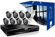 KGuard 16 Channel HD Series + 8 Cameras Combo Kit ( Hybrid DVR Supports 16CH Analoge & 8 CH IP Cameras