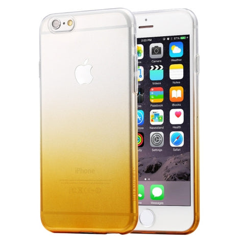 HAWEEL Ultra Slim Gradient Color Clear Soft TPU Case for iPhone 6 Plus & 6s Plus(Orange)
