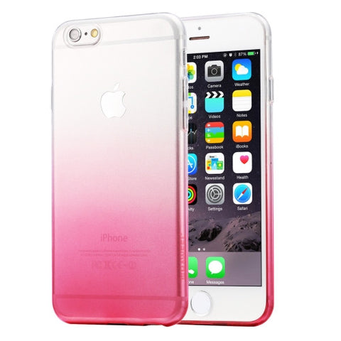 HAWEEL Ultra Slim Gradient Color Clear Soft TPU Case for iPhone 6 Plus & 6s Plus(Pink)