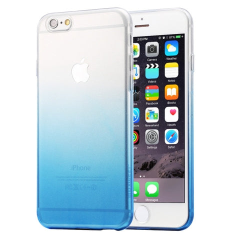 HAWEEL Ultra Slim Gradient Color Clear Soft TPU Case for iPhone 6 Plus & 6s Plus(Blue)