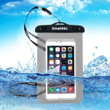HAWEEL Transparent Universal Waterproof Bag with Lanyard for iPhone 7 Plus / iPhone 7 / iPhone 6 & 6 Plus / 6S & 6S Plus Samsung Galaxy S6 / S5 / Note 5(Black)