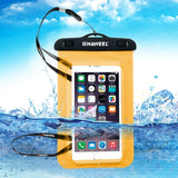 HAWEEL Transparent Universal Waterproof Bag with Lanyard for iPhone 7 Plus / iPhone 7 / iPhone 6 & 6 Plus / 6S & 6S Plus Samsung Galaxy S6 / S5 / Note 5(Orange)