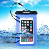 HAWEEL Transparent Universal Waterproof Bag with Lanyard for iPhone 7 Plus / iPhone 7 / iPhone 6 & 6 Plus / 6S & 6S Plus Samsung Galaxy S6 / S5 / Note 5(Blue)