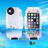 HAWEEL for iPhone 6 Plus & 6s Plus 40m Waterproof Diving Housing Photo Video Taking Underwater Cover Case(White)