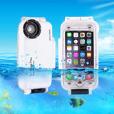 HAWEEL for iPhone 7 Plus 40m Waterproof Diving Housing Photo Video Taking Underwater Cover Case(White)