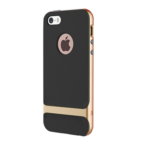 Rock Royce Series for iPhone SE & 5s & 5 Business Style TPU + PC Protective Case(Champagne Gold)