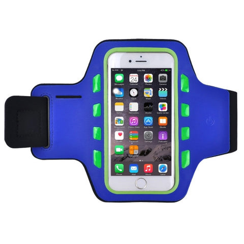 For iPhone 6 & 6s Single Buckle Sport Armband Case with LED(Green)