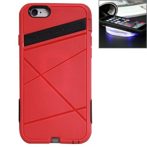 NILLKIN 2 in 1 Super Power Case for iPhone 6 & 6s TPU + PC Protective Case with QI Standard Wireless Charging Receiver (Red)