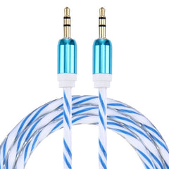 Double Color Metal Head 3.5mm Male to Male Plug Jack Stereo AUX Audio Cable for iPhone / iPad / Samsung / MP3 / MP4 / Laptop Cable Length: 90cm(Blue)
