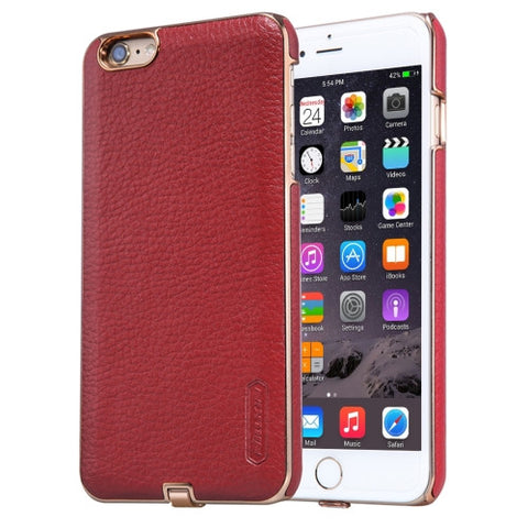 NILLKIN 2 in 1 N-JARL Case for iPhone 6 & 6s Litchi Texture PU Skin PC Protective Case with QI Standard Wireless Charging Receiver(Red)