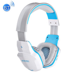 KOTION EACH B3505 Wireless Bluetooth V4.1+EDR Stereo Gaming Headphone Headset Support NFC with Mic for iPhone / iPad / Samsung / Tablet PC etc.(White + Blue)