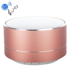 A10 Mini Portable Bluetooth Stereo Speaker with Built-in MIC & LED Support Hands-free Calls & TF Card Bluetooth Distance: 10m(Rose Gold)