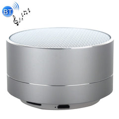 A10 Mini Portable Bluetooth Stereo Speaker with Built-in MIC & LED Support Hands-free Calls & TF Card Bluetooth Distance: 10m(Silver)