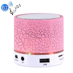 A9 Mini Portable Bluetooth Stereo Speaker with Built-in MIC & LED Support Hands-free Calls & TF Card & AUX IN Bluetooth Distance: 10m(Pink)