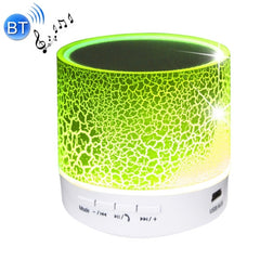 A9 Mini Portable Bluetooth Stereo Speaker with Built-in MIC & LED Support Hands-free Calls & TF Card & AUX IN Bluetooth Distance: 10m(Green)