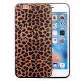 For iPhone 6 & 6s Leopard Pattern TPU Frame+PC Back Cover Protective Case