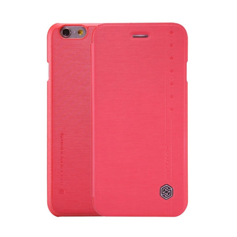 NILLKIN Rain Leather Case for iPhone 6 & 6s Rain Texture Horizontal Flip Leather Case with Card Slot(Red)