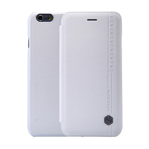 NILLKIN Rain Leather Case for iPhone 6 & 6s Rain Texture Horizontal Flip Leather Case with Card Slot(White)