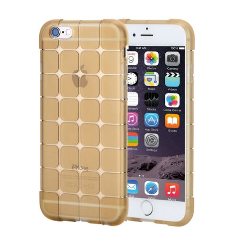 Rock Magic Cube Series for iPhone 6 Plus & 6s Plus Transparent Soft TPU Protective Back Case(Gold)