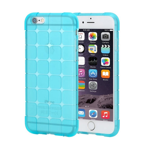 Rock Magic Cube Series for iPhone 6 Plus & 6s Plus Transparent Soft TPU Protective Back Case(Blue)