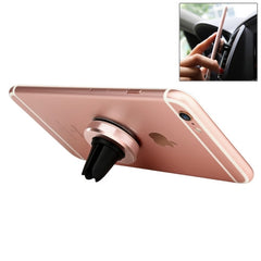 Baseus Magnet Series 180 Degree Rotatable Car Air Vent Mount Phone Holder Stand for iPhone 6s Plus & 6 Plus & 6s & 6 & 5 & 5S & 5C & SE Samsung Galaxy S7 & S6 Xiaomi Mi 5 Sony HTC Huawei(Rose Gold)
