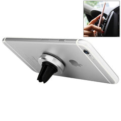 Baseus Magnet Series 180 Degree Rotatable Car Air Vent Mount Phone Holder Stand for iPhone 6s Plus & 6 Plus & 6s & 6 & 5 & 5S & 5C & SE Samsung Galaxy S7 & S6 Xiaomi Mi 5 Sony HTC Huawei(Silver)