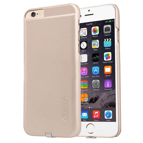 NILLKIN 2 in 1 Magic Case for iPhone 6 Plus & 6s Plus Anti-slip PC Protective Case with QI Standard Wireless Charging Receiver(Gold)