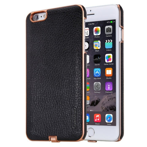NILLKIN 2 in 1 N-JARL Case for iPhone 6 Plus & 6s Plus Litchi Texture PU Skin PC Protective Case with QI Standard Wireless Charging Receiver(Black)