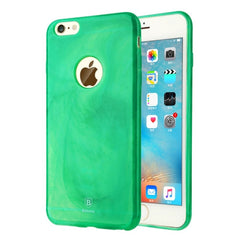 Baseus for iPhone 6 Plus & 6s Plus Jade Texture Soft TPU Protective Case(Green)