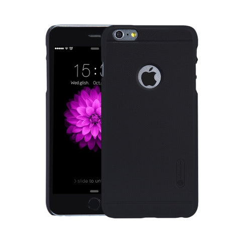 NILLKIN Frosted Shield for iPhone 6 Plus & 6s Plus Concave-convex Texture PC Protective Case Back Cover(Black)